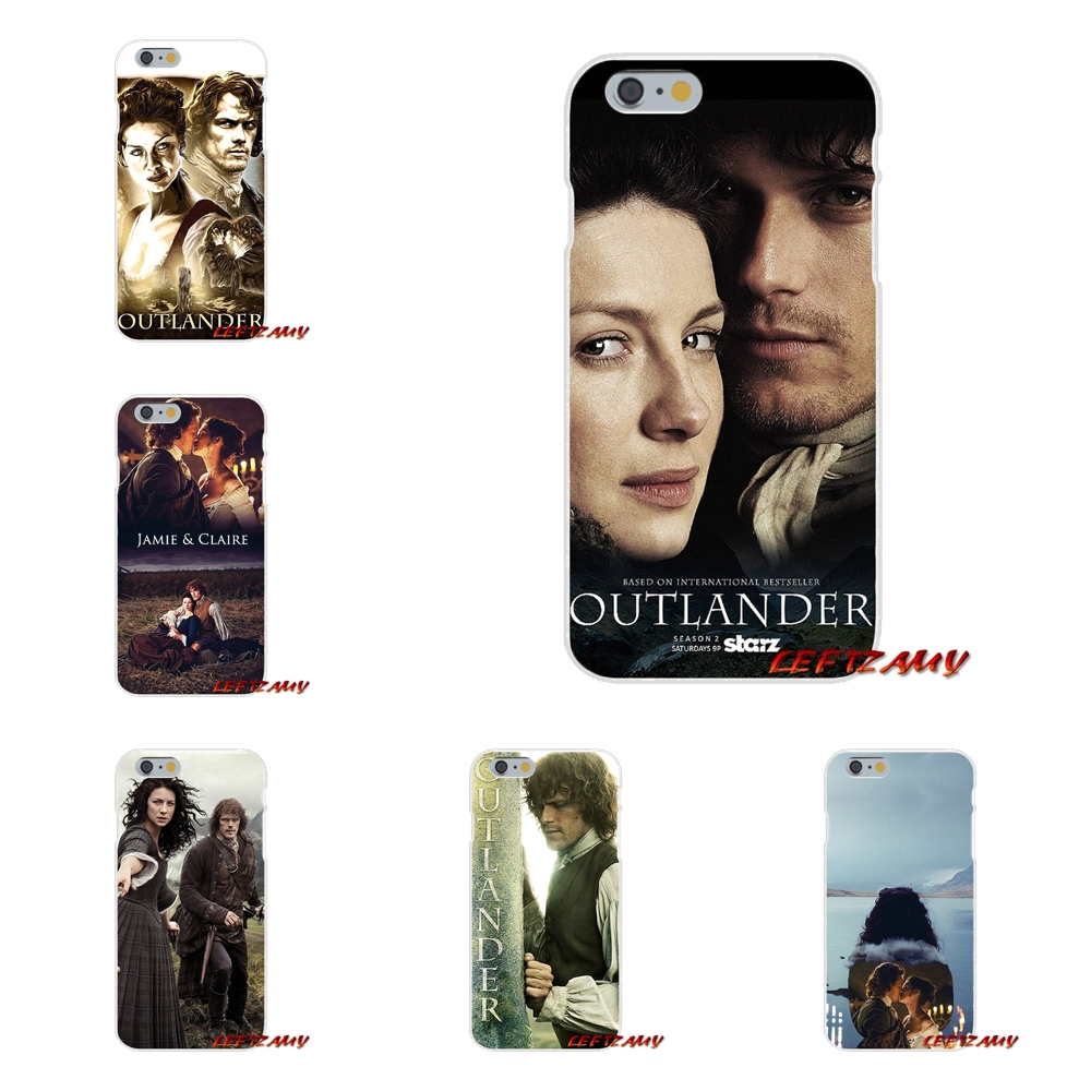 outlander tv JAMIE CLAIRE For iPhone X 4 4S 5 5S 5C SE 6 6S 7 8 Plus Accessories Phone Shell Covers