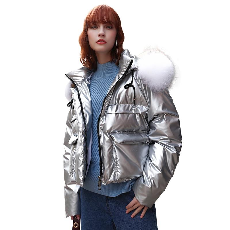 Pain Chargé Argent Fourrure 2018 Paragraphe Promotion Solide Fashion Lâche Épais Coton Veste Top Femelle Femmes Manteau Tresses De Hiver Col wfHYq8f
