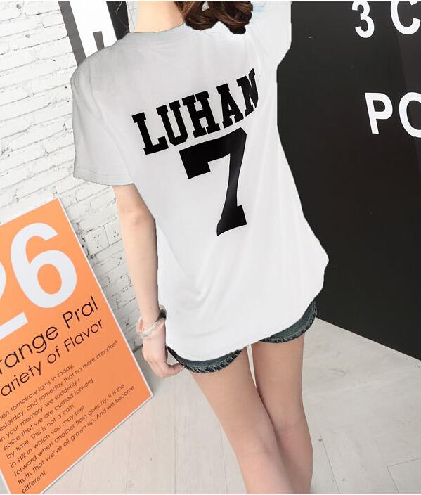 HTB1AOo2KVXXXXaDXFXXq6xXFXXXO - Summer Exo Letter Print O-neck Short Sleeve O-neck tshirt