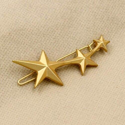Timlee H087 3 Star Design Hair Clip HairPins Girls hair accessary wholesale