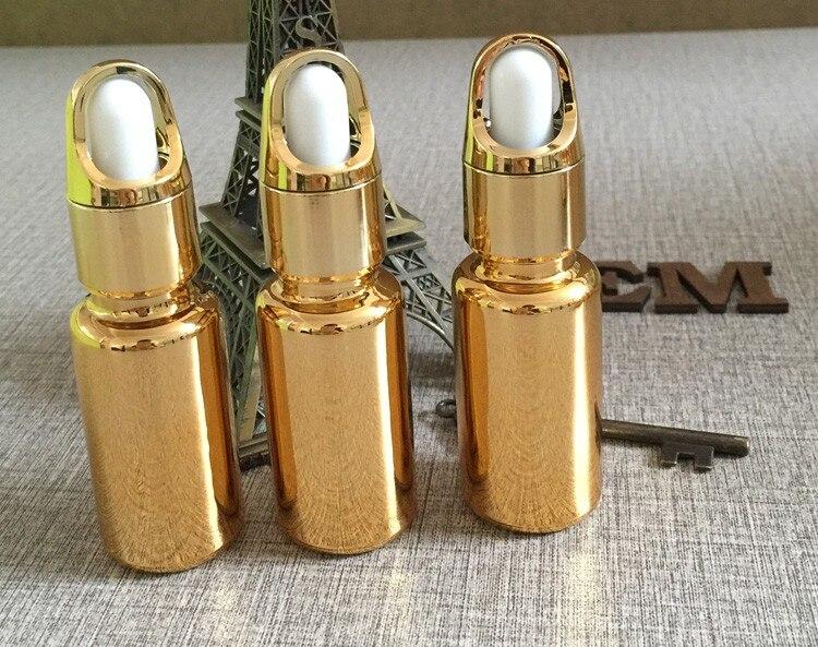 banhado a ouro frasco conta-gotas, recipiente conta-gotas