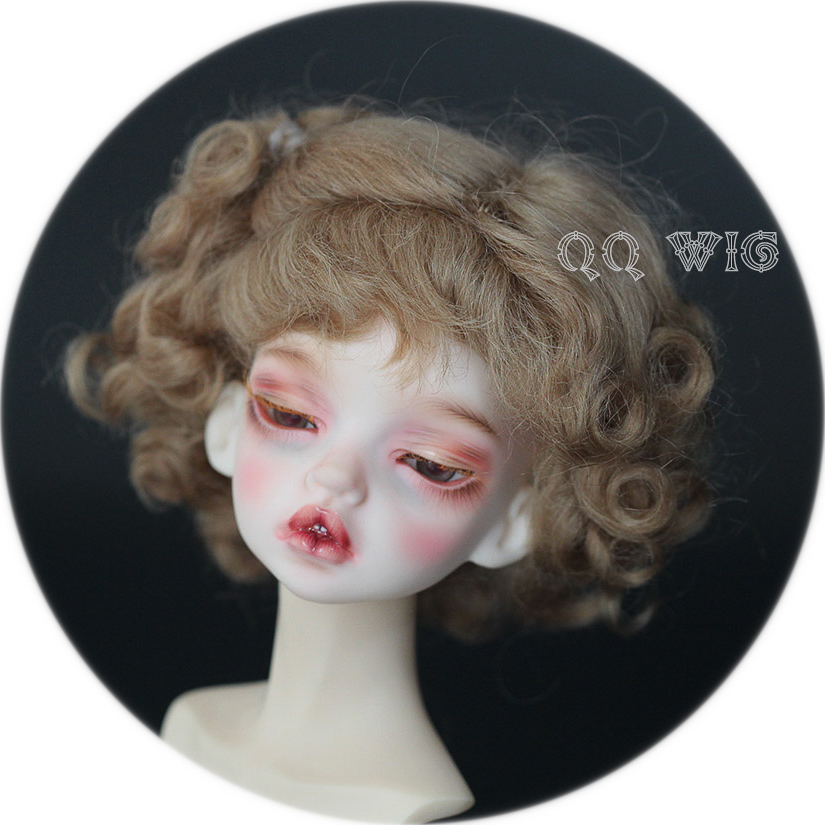 ФОТО 2017 Newest Style 1/4 Bjd Wig Mohair Cute Fashion Wavy Bjd Wig Msd Sd Yosd imda Hair Wig Free Shipping
