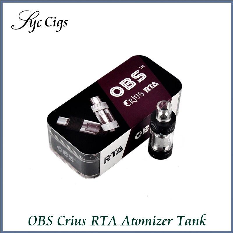 Original OBS Crius RTA Atomizer 4 2ml Vaporizer RTA Tank Top Side Fill Easy Sub ohm