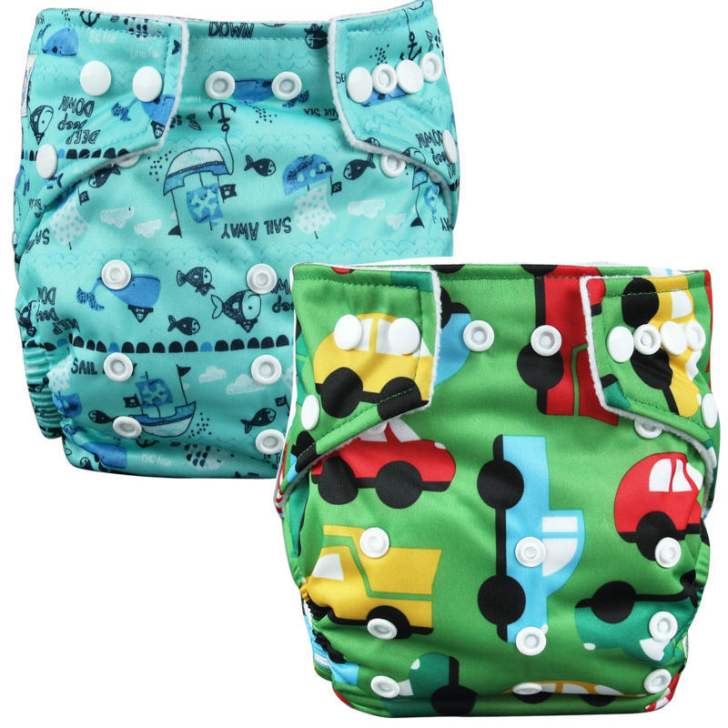 2 prints diapers