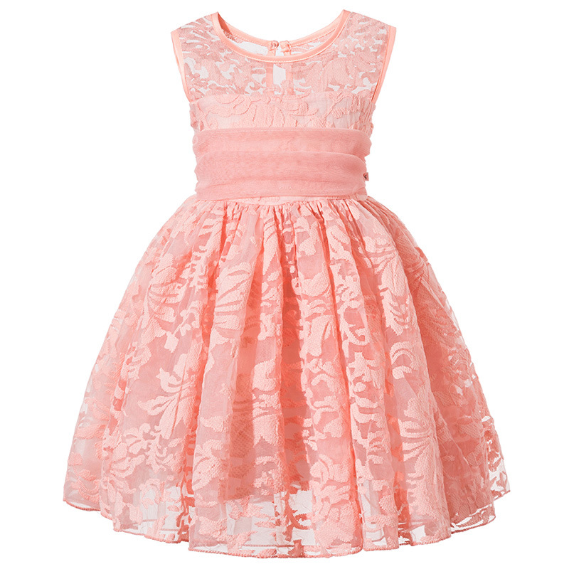 Kids Girl Ball Gown Dress NEW pink baby Toddler Girl Summer Lace Dress 3-6 Year Princess Birthday Party Dress Children Clothing girls lace dress princess toddler clothes baby girl new year costume sweet summer 2017 kids flower children clothing 3 4 6 8 11y