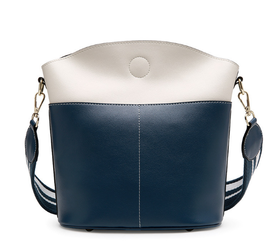 New Korean Style Genuine Leather Female Shoulder Bag Exquisite Lady Messenger Bag Large Capacity Elegant Girl Bucket Bag C488 new korean style genuine leather female