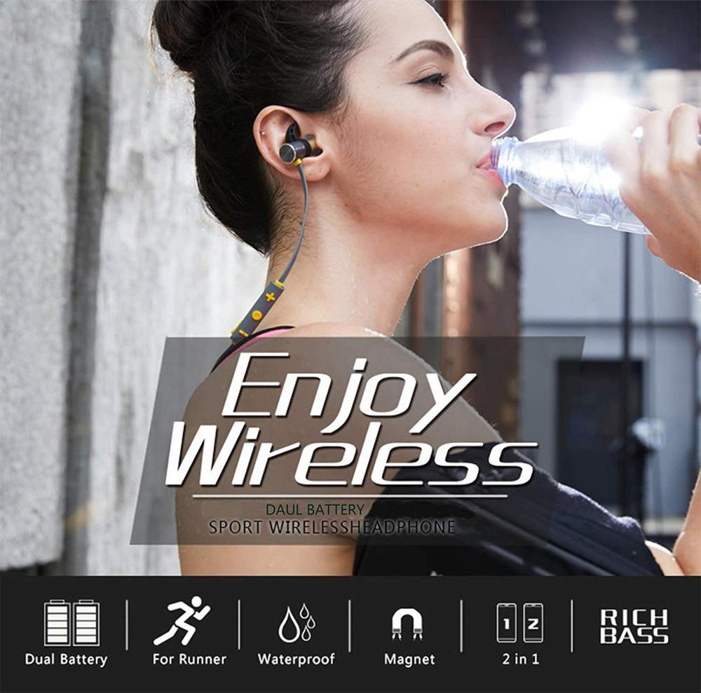Plextone Bluetooth Earphone IPX5 Waterproof Sports Wireless Earbuds Noise Cancelling Wireless Headphones for iPhone Xiaomi Phone in Bluetooth Earphones Headphones from Consumer Electronics