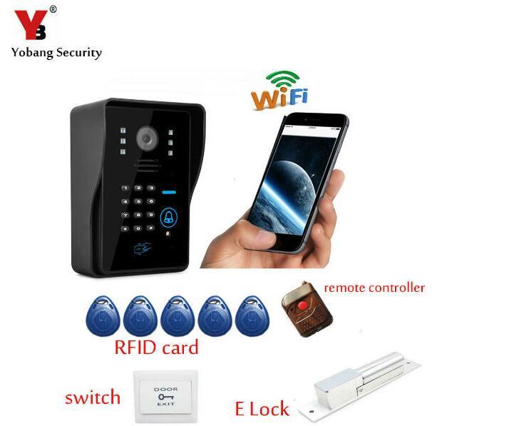 Yobang безопасности Wi-Fi Дверные звонки Камера Wi-Fi видео-телефон двери Видеодомофоны Поддержка Android и IOS операционная система.