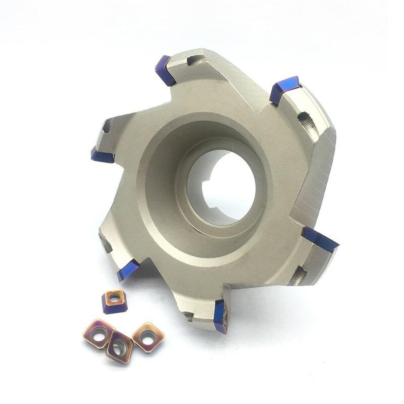 SEKT1204 10pcs 1pcs KM12 125 40 6T Milling Cutter carbide Insert Face Mill Shoulder Cutter For