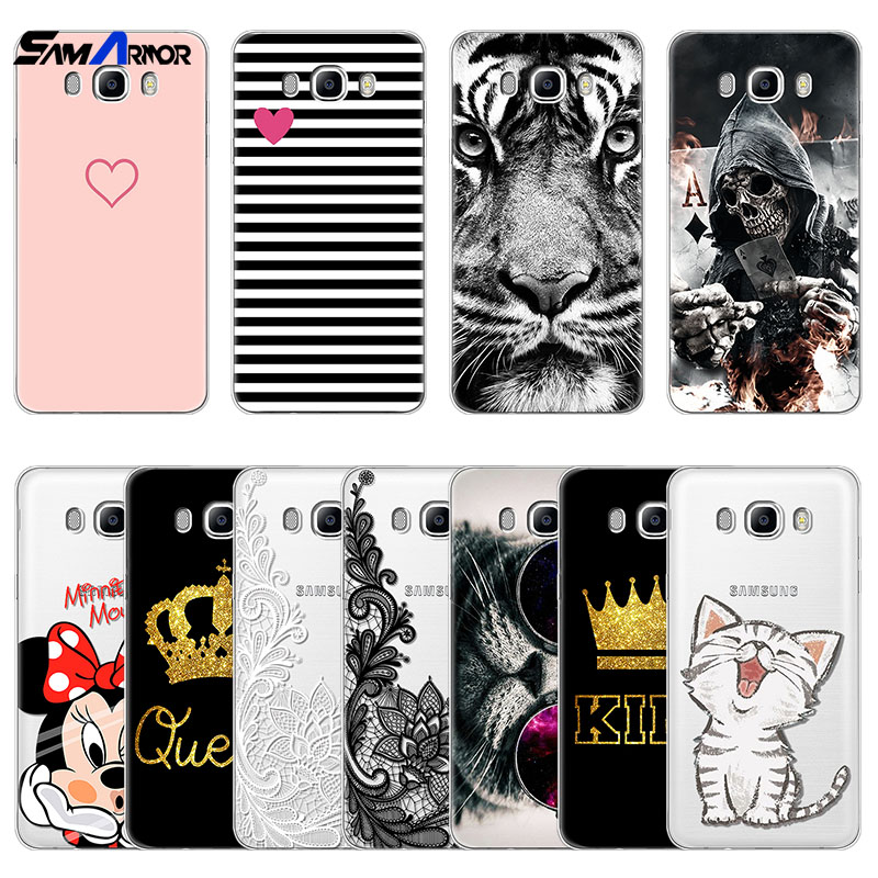 for Samsung Galaxy J7 2016 Case Silicone Ultra Thin Soft TPU Rubber Transparent Cases Clear bags Cute Cartoon Print Coque Cover