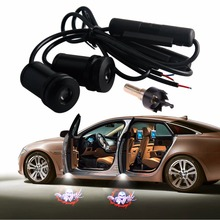 цена на 2Pcs Free Shipping Car-styling Universal Laser Led Car Door Projector Light For Bat Car Door Welcome Light Ghost Shadow Lights