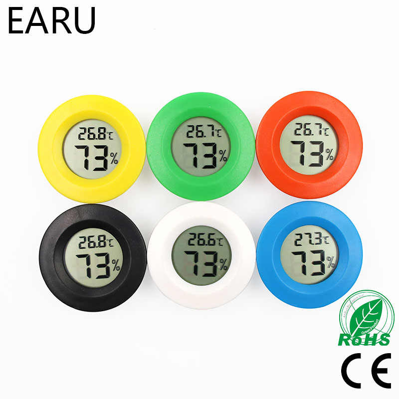 Mini LCD Digital Thermometer Hygrometer Fridge Freezer Tester Temperature Humidity Meter Detector Pet Auto Car Thermostat