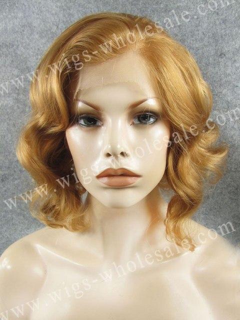 Marilyn Monroe celebrity style heat resistant short blonde lace front wig