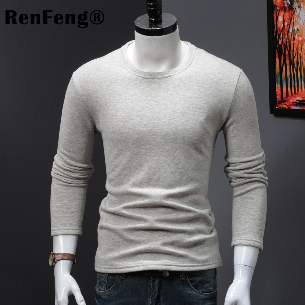 High Quality O-neck Sweater Men Winter thick Pullover Solid Knitted Sweater Tops for Men Autumn Male oversized Sweater Knitwear (4)