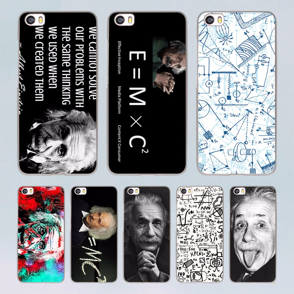 Albert Einstein font b Physical b font formula Graffiti design transparent clear hard Case Cover for