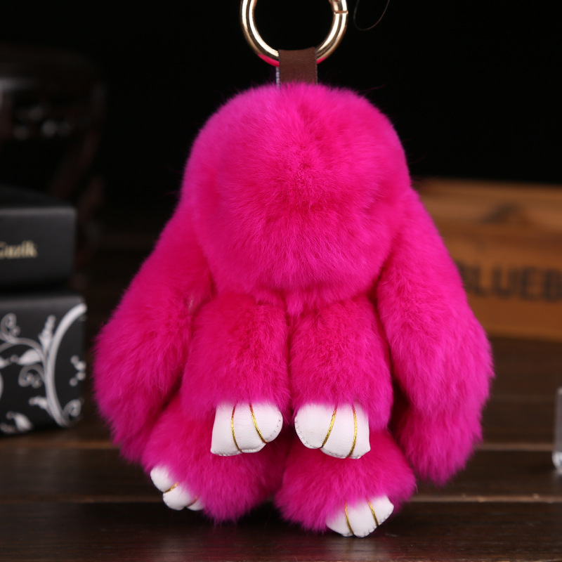 Hot Sell 13cm kawaii Cute Small Rabbit Pendant Stuffed Animals Keychain Girl Birthday Gift Plush Toys for Children Kids Toys like hi 6