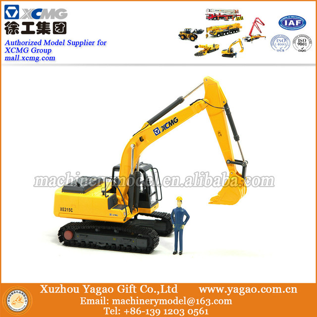 1:35 Scale Model, Diecast Toy, Construction Model,  Business Gift, Souvenir, Replica, XCMG XE215C Excavator Model