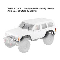12.3' Wheelbase RC Car Body Shell DIY Kit 1/10 RC Truck Crawler Axial SCX10 & SCX10 II 90046 90047 Model Parts 313mm body shell
