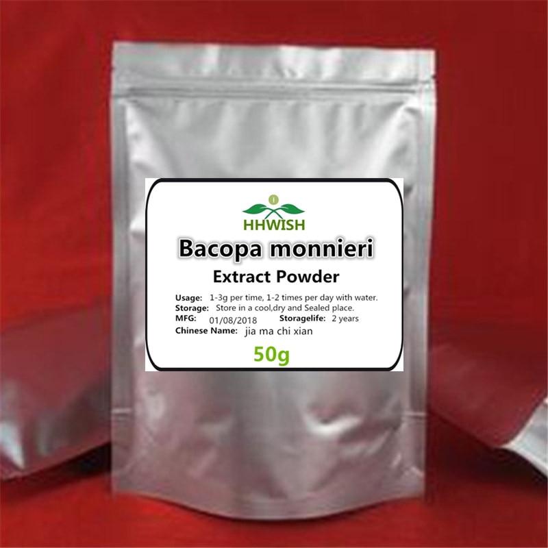 50g-1000g Pure Bacopa Extract,Bacopa Monnieri Extract,Fake Purslane Extract,jia Ma Chi Xian,Improve Memory Free Shipping