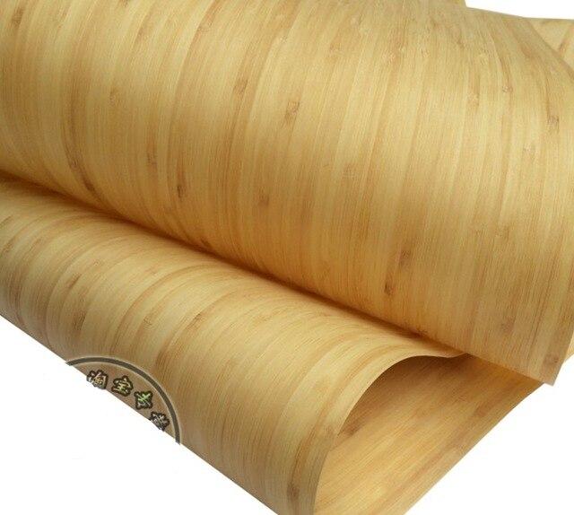 Placage de décoration pour lampes en bambou à pression plate naturelle, longueur: 2.5 mètres, épaisseur: 0.2mm, largeur: 40cm, 2 pièces par lot