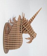 Unicorn head ornament,animal wood carving,decorative items,unicorn home decor,MDF DIY craft,home wall hanging,decorative objects