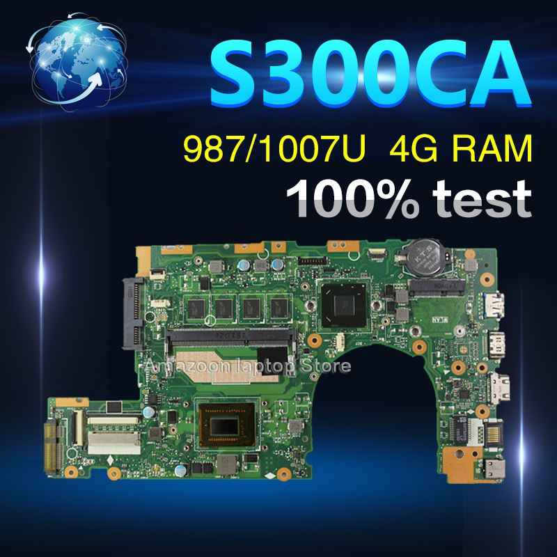 Amazoon new motherboard S300CA For ASUS S300CA  S300C VivoBook  Laptop motherboard S300CA mainboard 987/1007U  REV2.1 4G RAMAmazoon new motherboard S300CA For ASUS S300CA  S300C VivoBook  Laptop motherboard S300CA mainboard 987/1007U  REV2.1 4G RAM