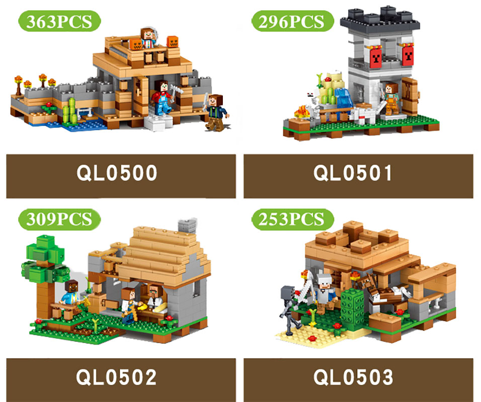 2017 MY WORLD Figures DIY Building Blocks Bricks Set Educational Toys for Children Compatible With Legoing Minecrafted 1