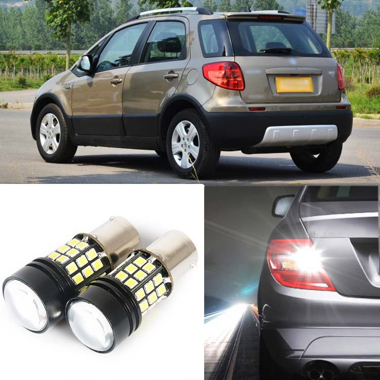 2pcs High Quality Superb Error Free 5050 SMD 360 Degrees LED Backup Reverse light Bulbs 1156 For Suzuki SX4 ruiandsion 2x75w 900lm 15smd xbd chips red error free 1156 ba15s p21w led backup revers light canbus 12 24vdc