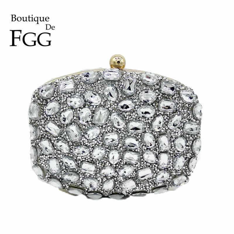3b7a0a8f3b6f ... Fuchsia Pink Diamond Crystal Women Evening Cocktail Party Clutches Bags  Wedding Dress Gold Handbag Purse Bridal ...