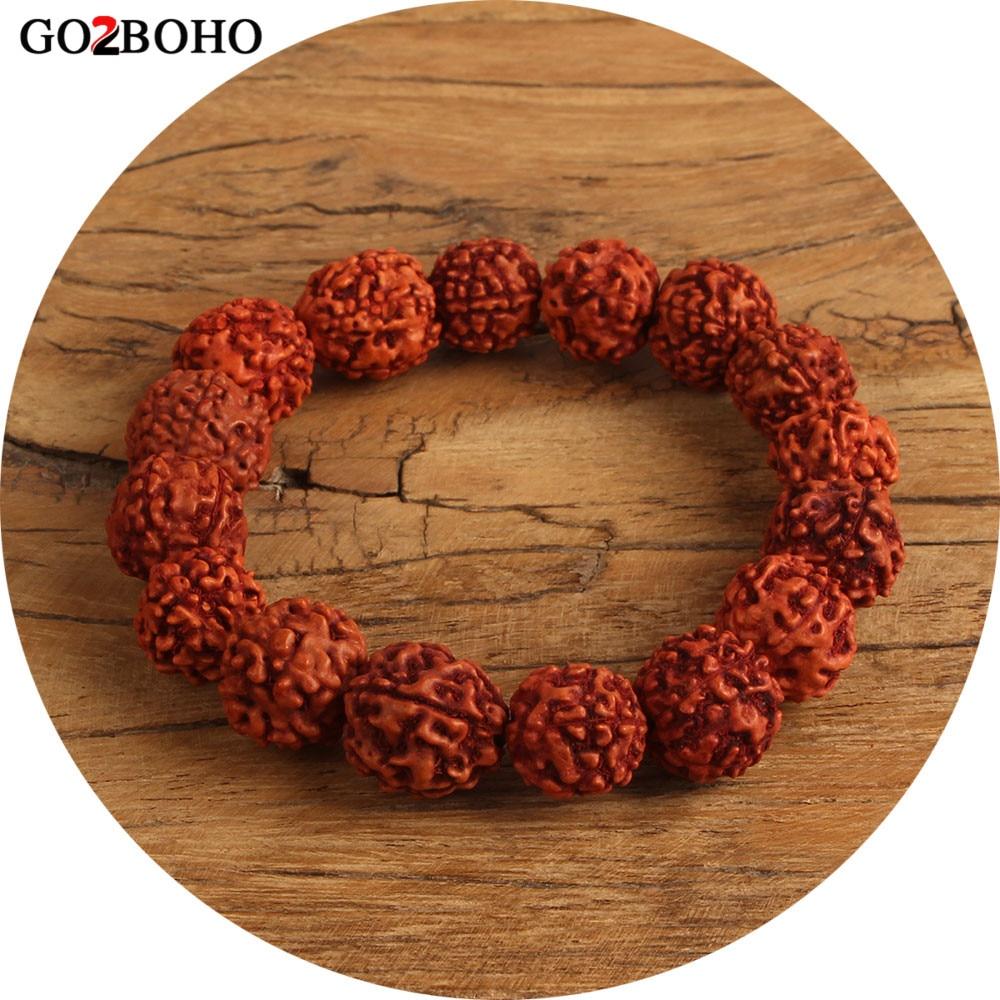 Go2boho Dropshipping Wholesale Rudraksha Bracelet Men Jewelry Bracelets Mala Beaded Meditation Pray Pulseira Masculina Healing