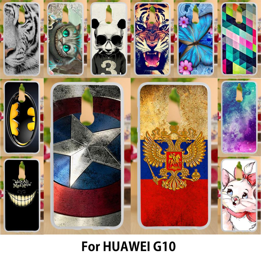AKABEILA Case For Huawei G10 Mate 10 Lite Nova 2i Maimang 6 Honor 9i Cases Silicone TPU Soft Covers <font><b>Photo</b></font> <font><b>Printer</b></font> Flags Bags