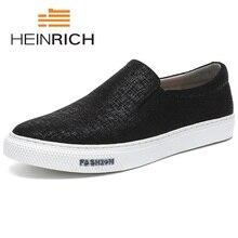Генрих 2018 Новая модная парусиновая обувь Для мужчин высокое качество дышащая обувь Элитный бренд модная мужская обувь на плоской подошве Новинка
