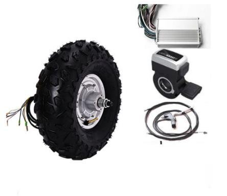 14.5\u0026quot; 800W 48V electric scooter wheel hub motor electric skateboard kit 3 wheel electric scooter