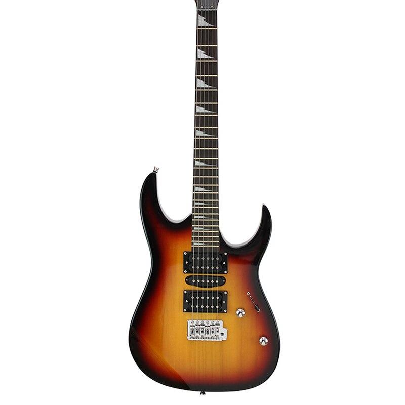 Guitare acoustique 39 pouces 6 cordes guitare manquant Angle 5 couleurs palissandre touche bord Instruments de musique professionnel