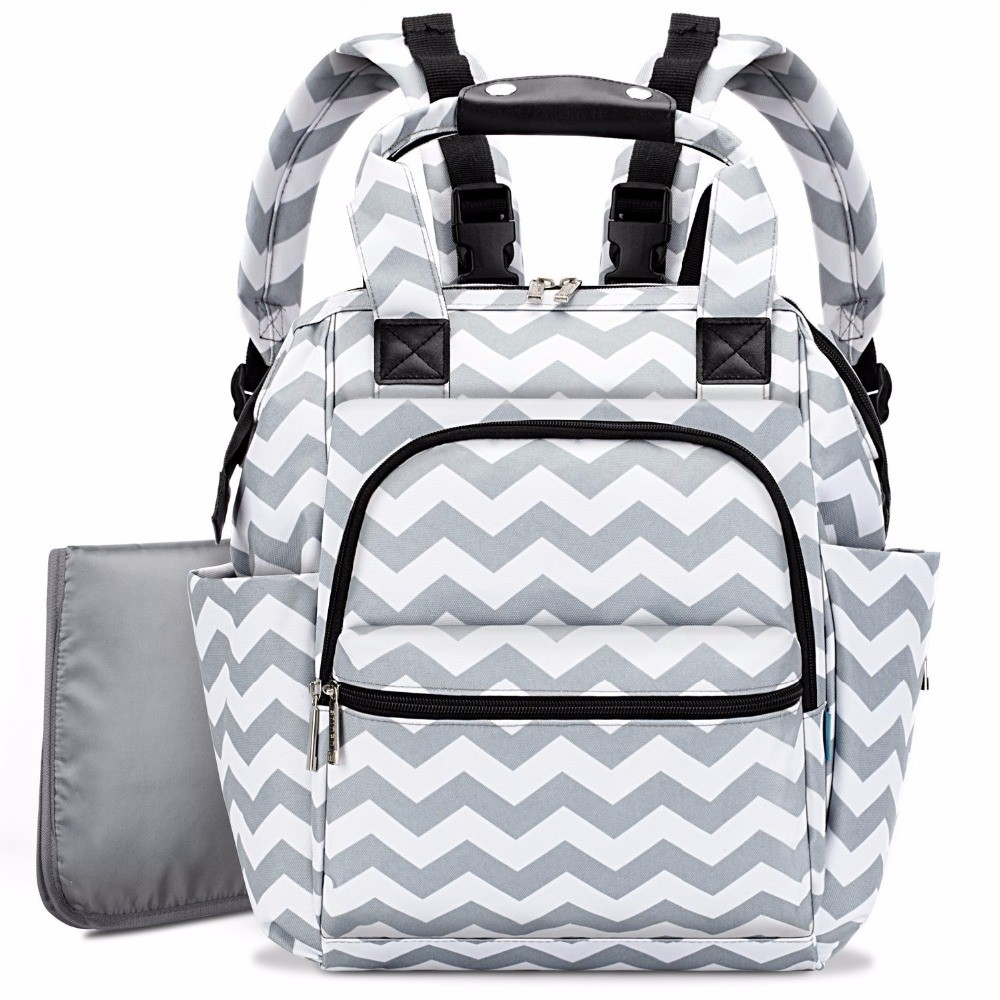 BRINCH Diaper Bag Mochila Maternity Mummy Bag Multifunction Baby Bags For Mom Lightweight Slim Stroller Bag
