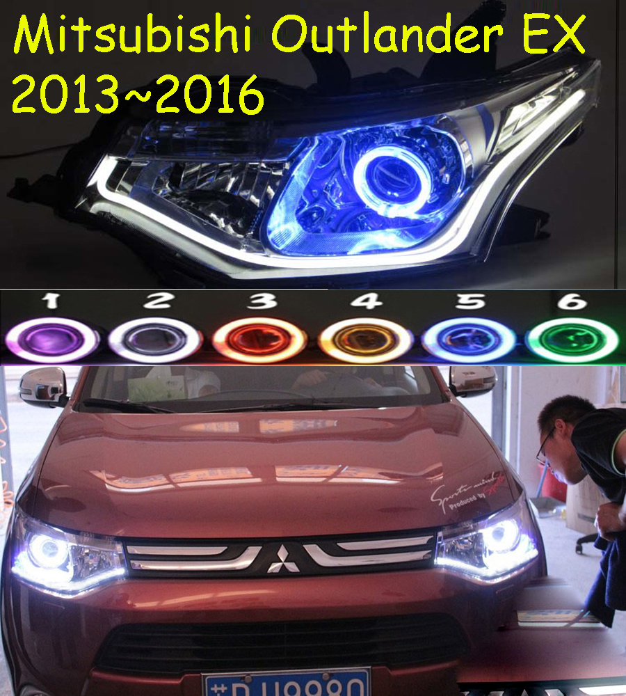 HID,2013~2015,Car Styling,Outlander Headlight,Endeavor,ASX,Expo,Eclipse,verada,pajero,Triton,Outlander head lamp