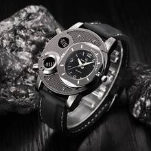 2018 Fashion Men's Outdoor Sports Watch Skeleton Stainless Steel Wristwatch Quartz Analog Clock Wrist Watches