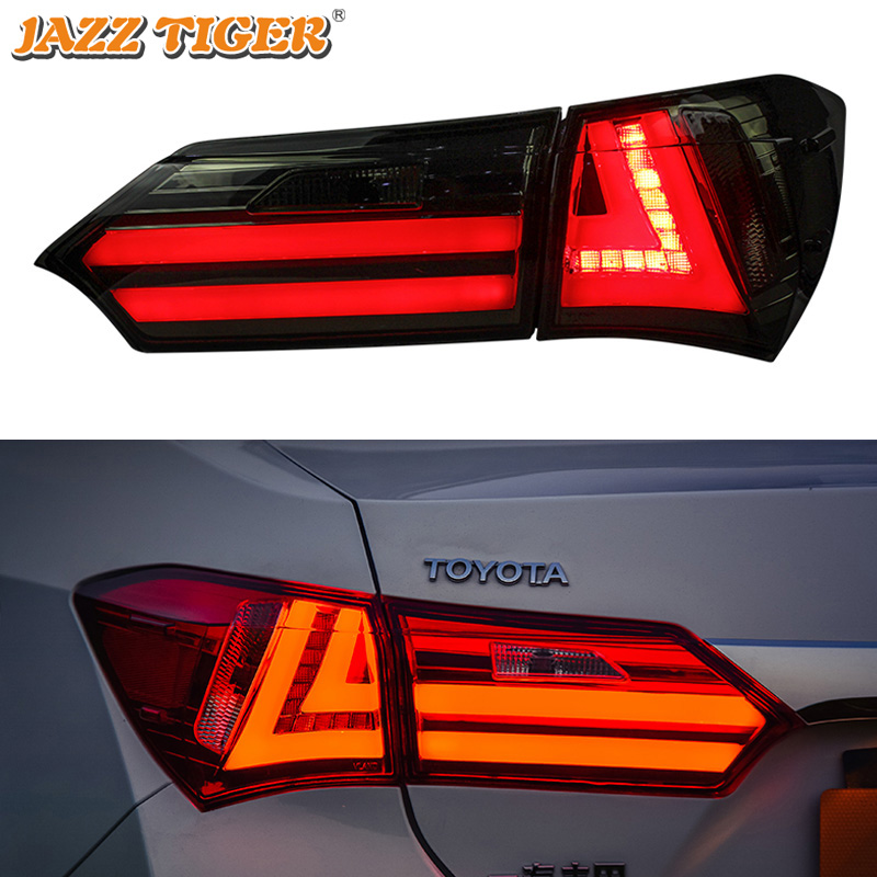 Car Styling for Toyota Corolla Tail Lights 2014~2018 New Corolla LED Tail Light Altis Rear Lamp DRL+Brake+Park+Signal
