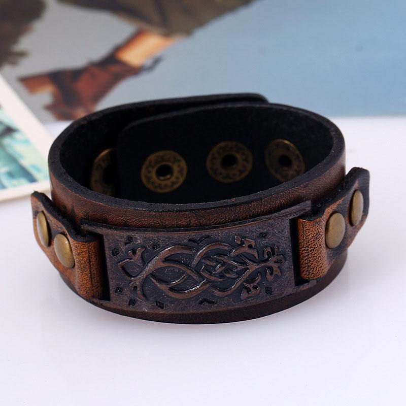Men Genuine Leather Wrap Bracelets  1