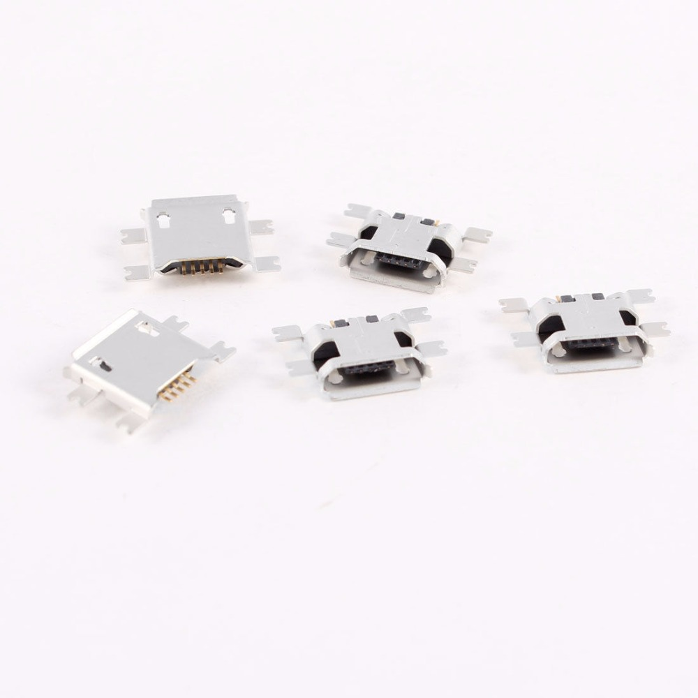 <font><b>50</b></font> Pcs Micro <font><b>USB</b></font> Type B Female Socket 180 Degree 5-Pin SMD SMT <font><b>Jack</b></font> Connector image