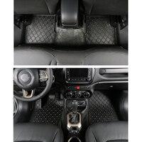 3pcs Set Rubber Car Floor Mats Waterproof Car Carpet Dustproof Durable Car Interior Accessories