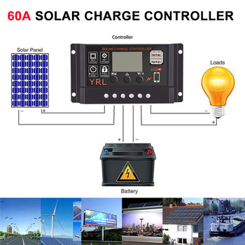 2019 LCD Display Solar Charge Controller Multifunctional PWM Solar Panel Charger for Electrical Solar Drop Shipping end table