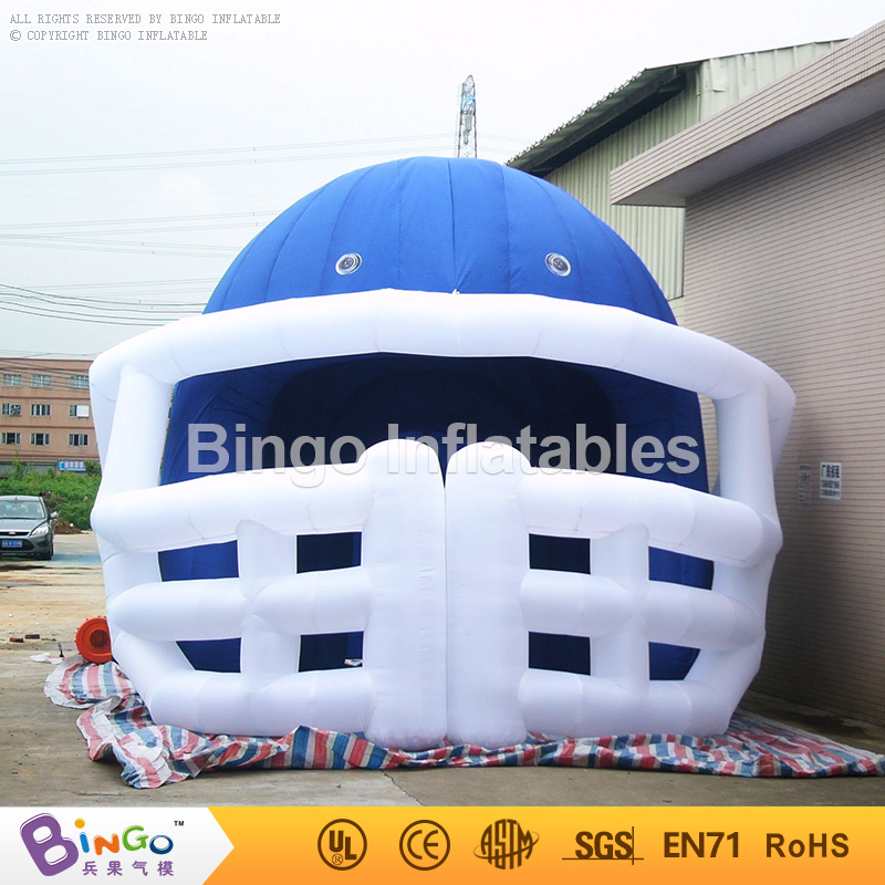 Hot inflatable sport tunnel 4.5M high inflatable football helmet tunnel tent for soccer sport event toys