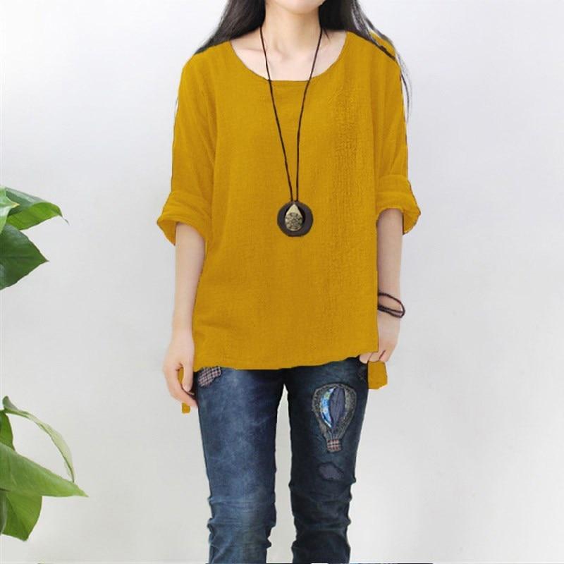 Womens Yellow Long Sleeve Shirt