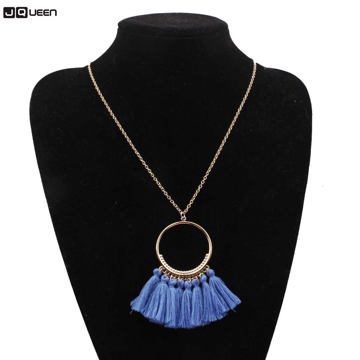 Originality Tassels Pendant Necklace Woman Fashion Ornaments Accessories Long Chain Bohemia Gold Necklace Female Jewelry