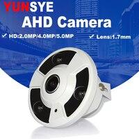 2MP 4MP 5MP Panoramic AHD Camera Fisheye Lens OSD Menu 360 Degree View 1080P AHD Camera IR 10m video surveillance Camera ahd cam