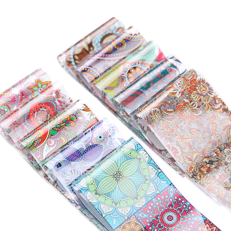 10 colours nail sheet set transfer sticker nail designs tools decal for nail leaves chinese style nail sticker