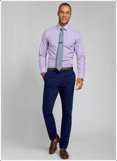 b9185a2286d1e8 2016 otoño azul marino para hombre pantalones de vestir para boda Slim Fit  para hombre Pantalones
