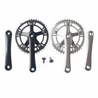 46T 48T*170mm CNC Alloy Single Speed Fixed Gear Road Bike Crankset Fixie Cycling Chainwheels Track Bicycle Crankset Cranks