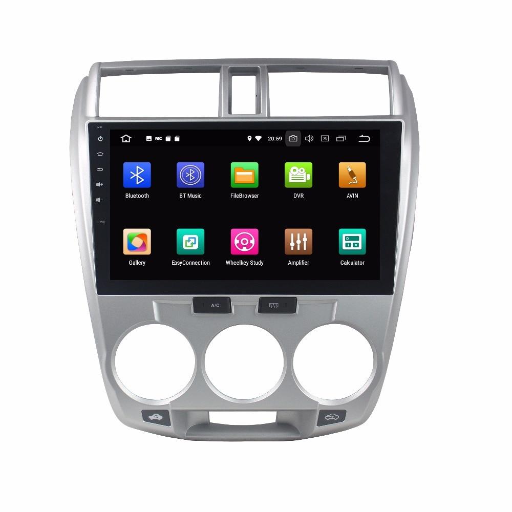 KLYDE 10,1 2 Din 8 Core Android 8,0 автомобильный мультимедийный плеер для Honda CITY 2006 2013 автомобильный DVD плеер 32 ГБ